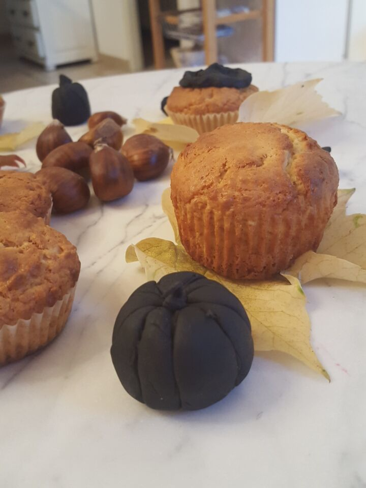 Muffins au yaourt &amp&#x3B; avoine et déco d'automne