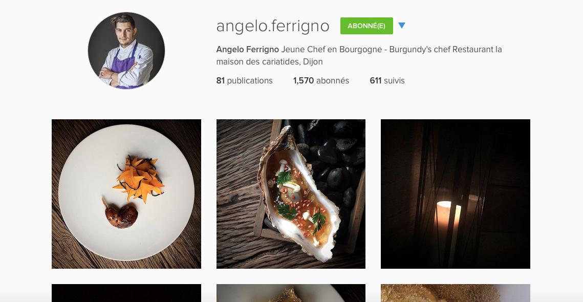 Ces chefs sur Instagram