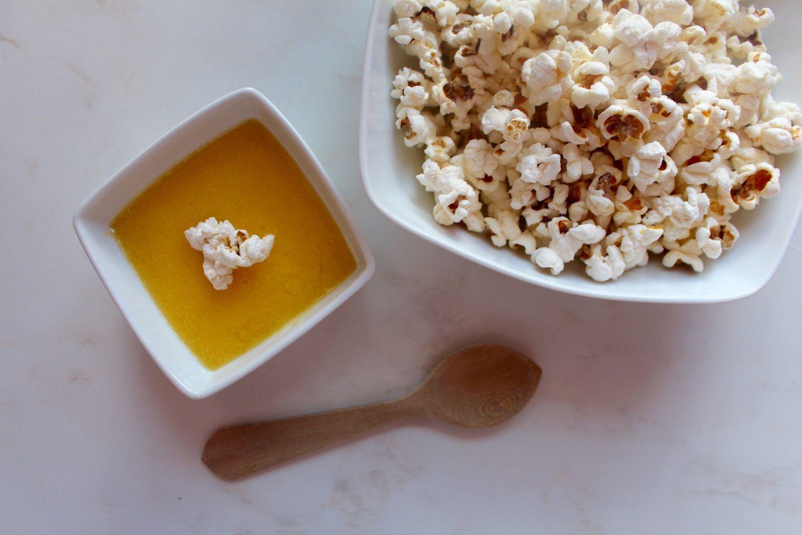 Popcorn maison et lemon curd au yuzu