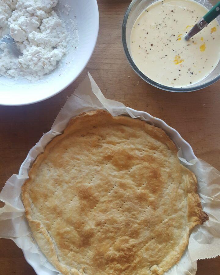 Tarte aux épinards &amp&#x3B; fromage de chèvre frais