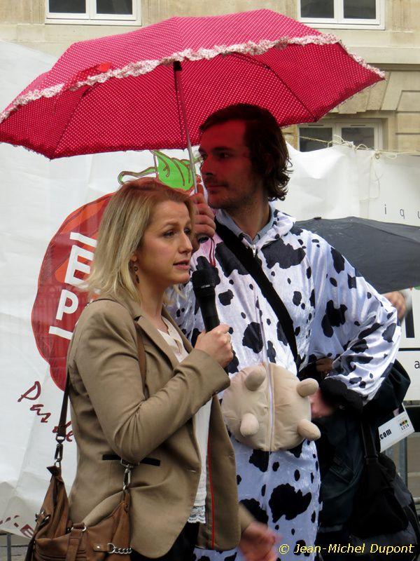 Manifestation anti-1000 vaches