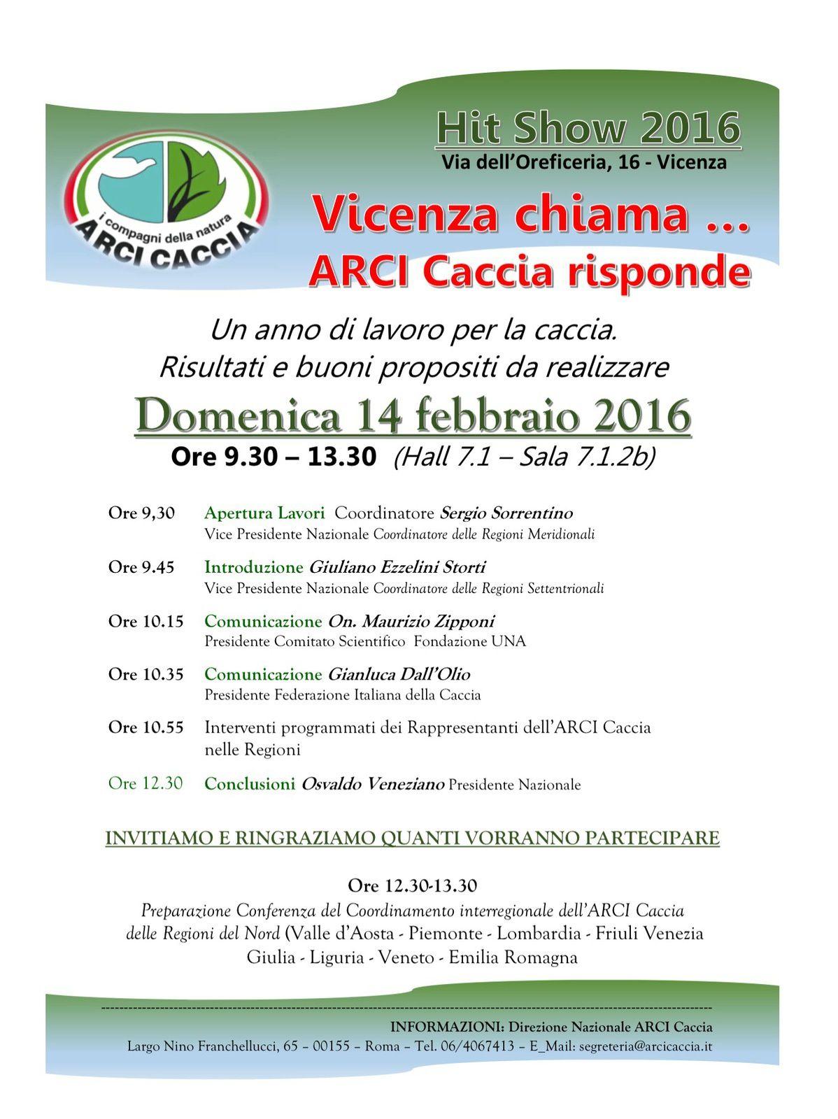 Vicenza chiama...... ARCI Caccia risponde!