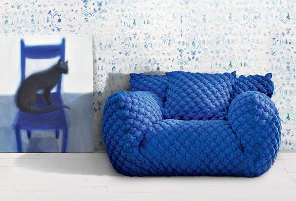 Goose Down &amp&#x3B; Quilted Sofa
