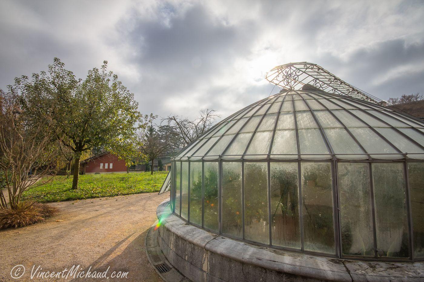 La serre du jardin de la Paix - Novembre 2015