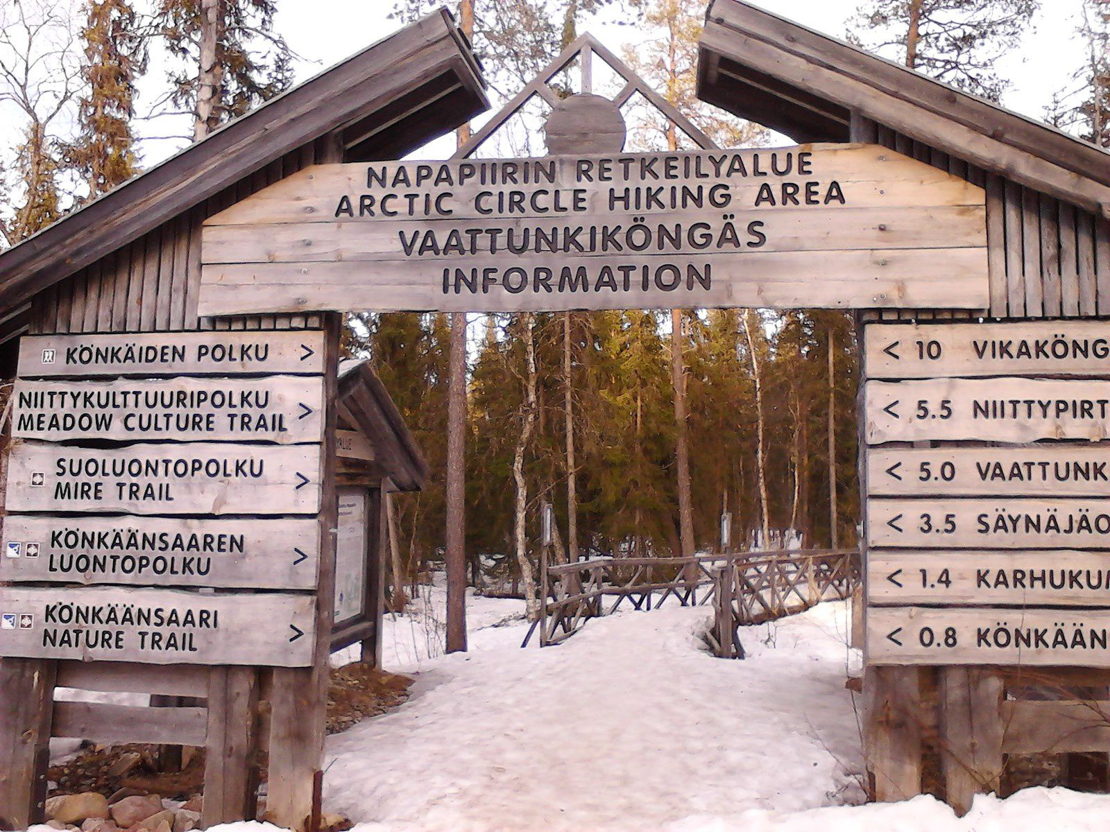 Arctic circle hiking area & unfrozen kemijoki river