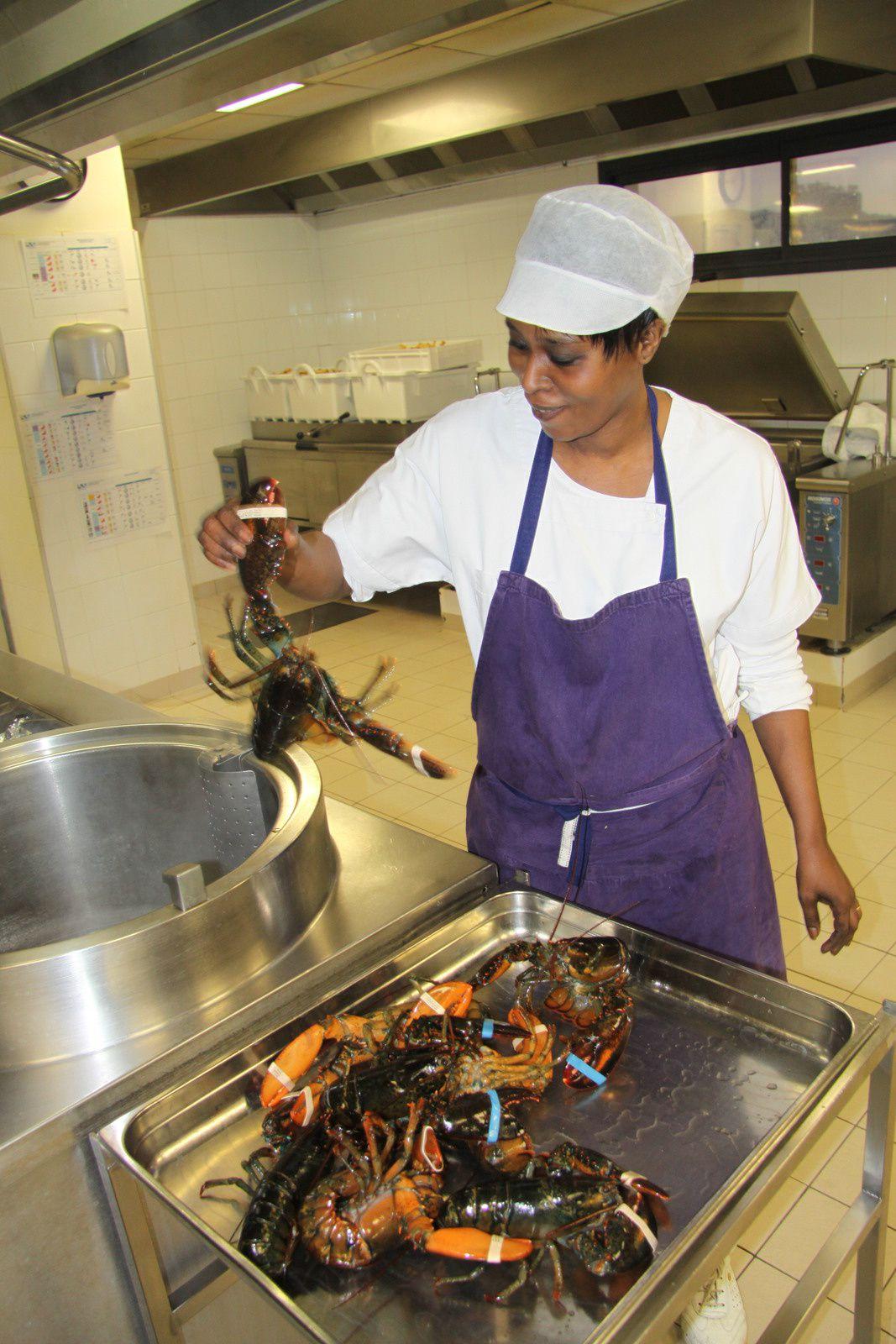 Les homards vivant pour notre tartare de boeuf