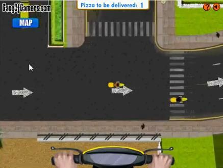 Jeux de scooter - California pizza delivery