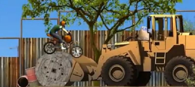 Jeux de moto : Construction Yard Bike