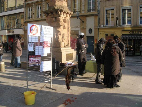 Journée contre la fourrure - Metz