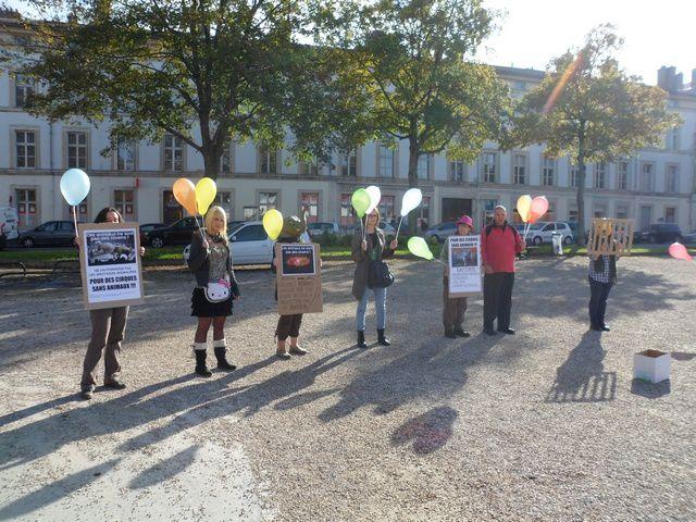 Action contre le cirque Arlette Grüss - Nancy