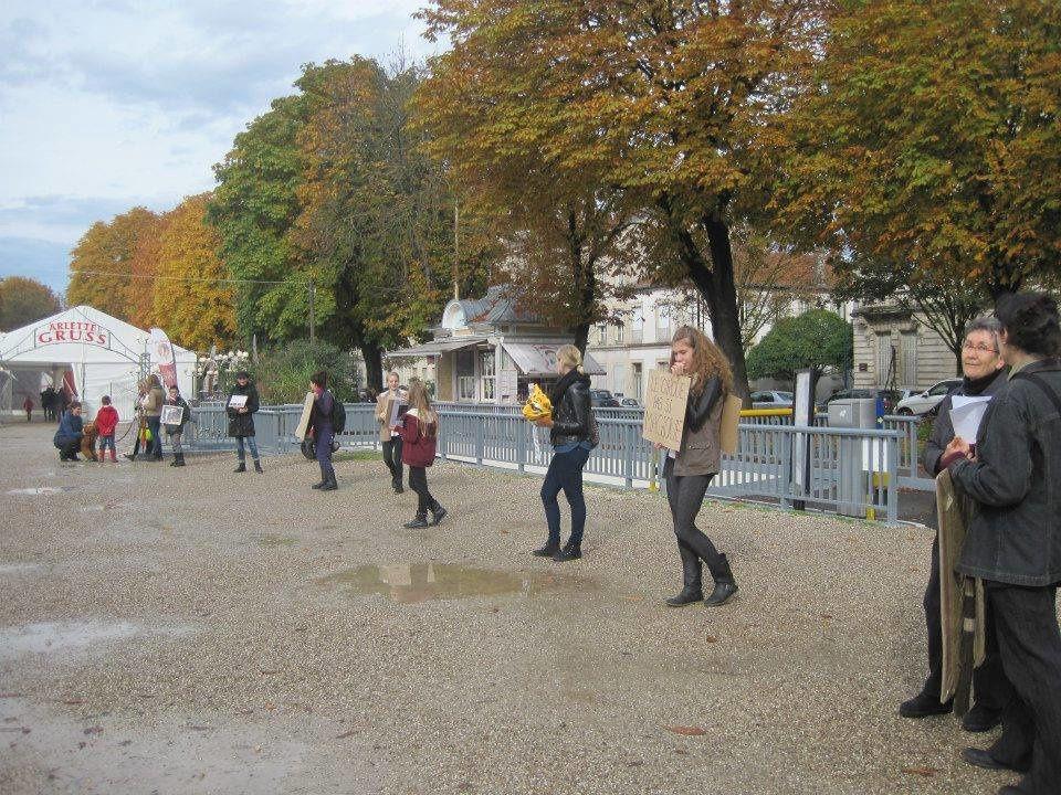 Action contre le cirque Arlette Gruss