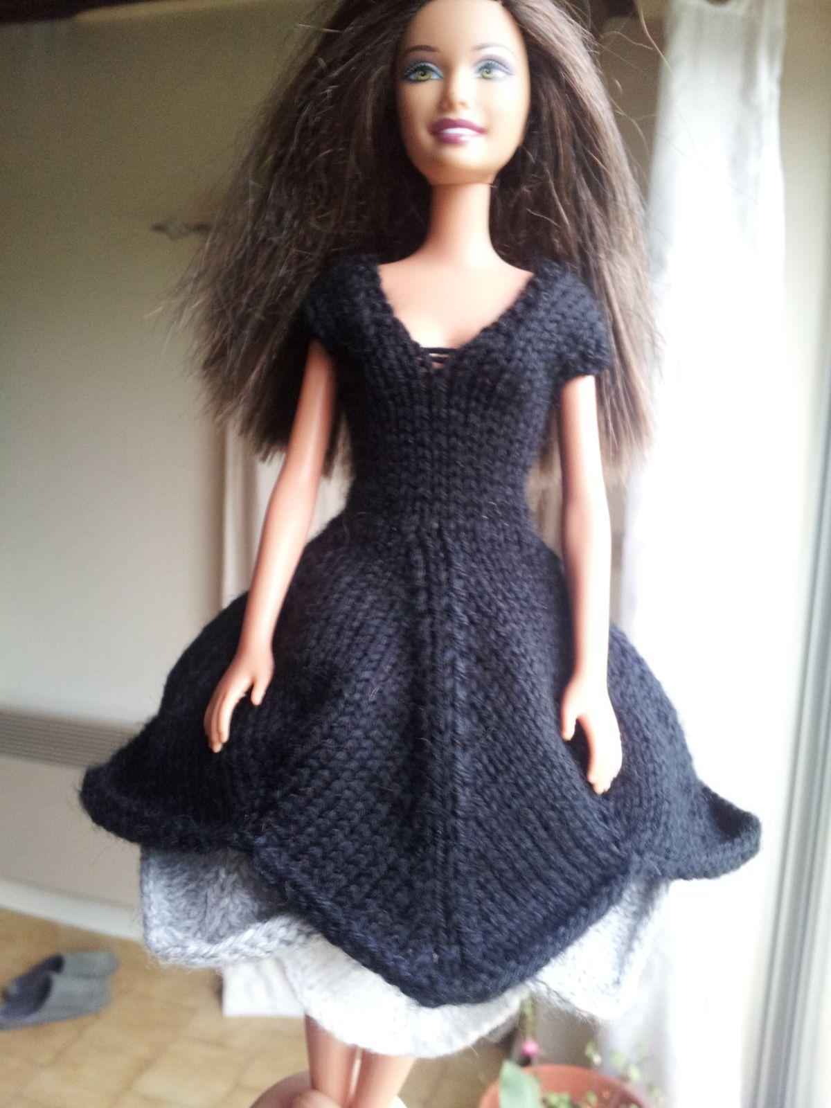 Barbie et sa jolie robe tricolore