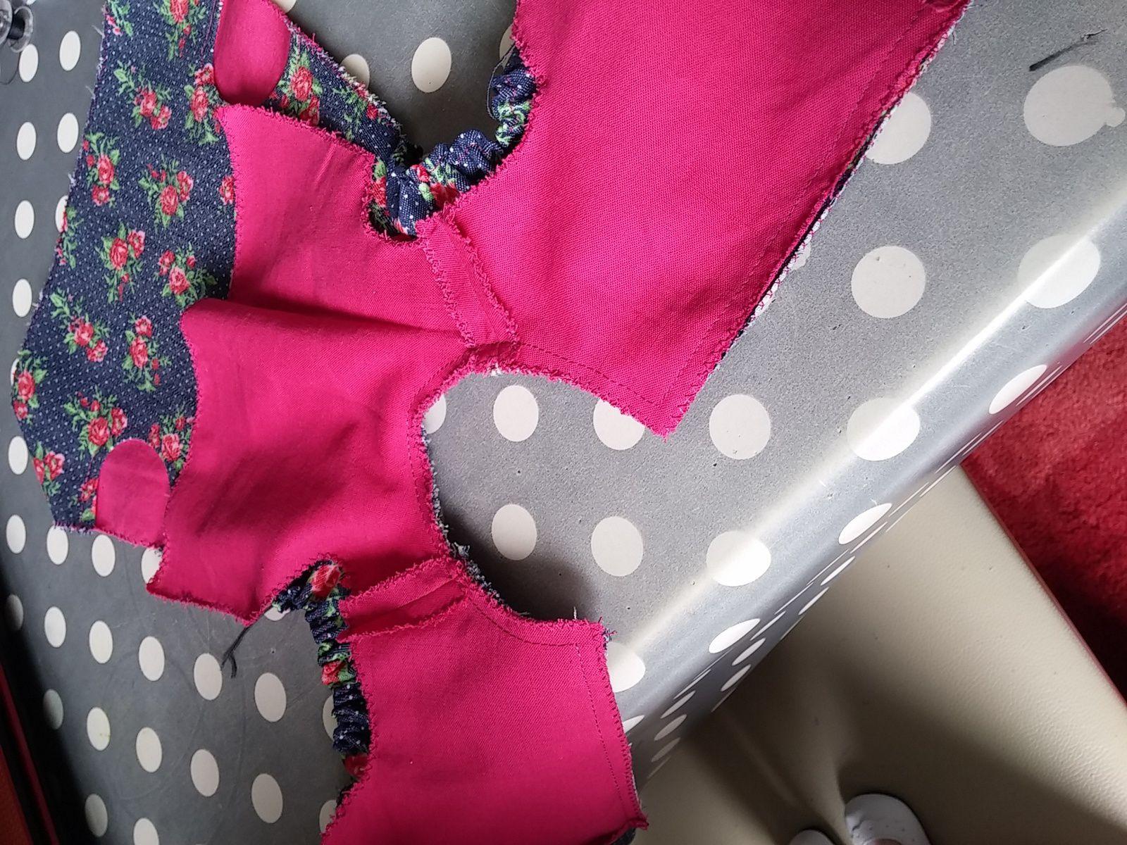 Patron robe &quot&#x3B;bouquet de roses&quot&#x3B;