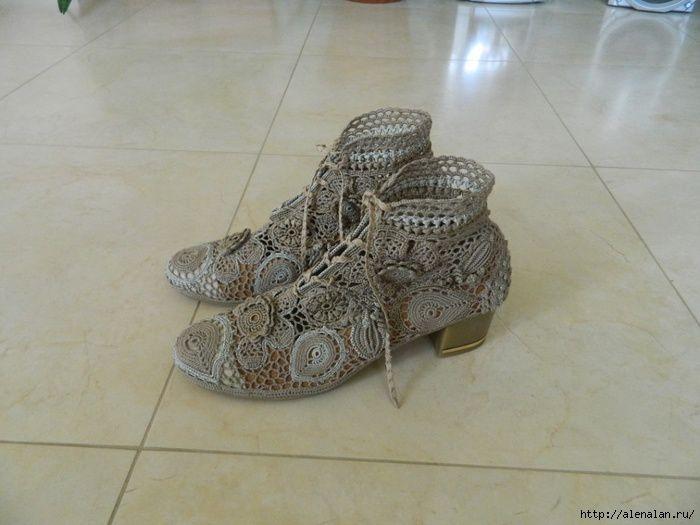 Pour celles qui crochètent ......de jolis souliers ....