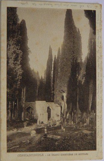 """Constantinople - Le grand cimetière de Scutari (cimetière célèbre auquel Théophile Gautier a consacré un chapître dans son livre """"Constantinople"""")"""