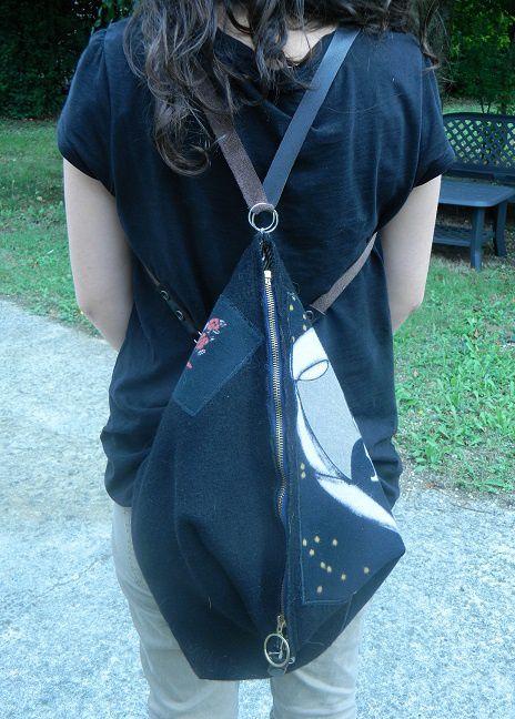 Sac besace convertible en sac à dos