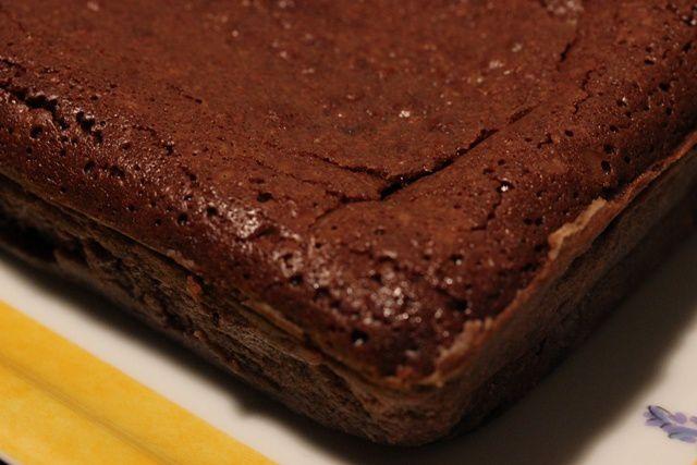 Gâteau au chocolat et au beurre salé