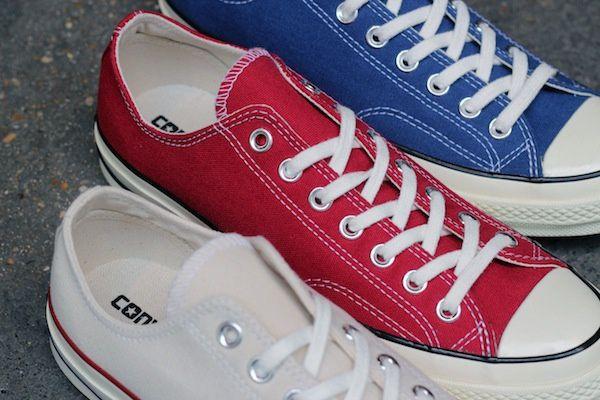 Converse Chuck Taylor 70's Core Ox Crimson, True Navy &amp&#x3B; Parchment