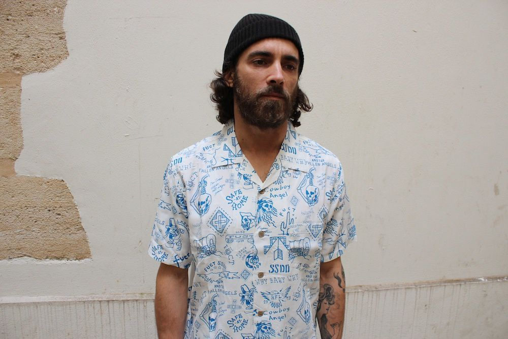 Fuct SSDD &quot&#x3B;Safe At Home&quot&#x3B; Aloha Shirt &amp&#x3B; Tie Dyed B.D Shirt