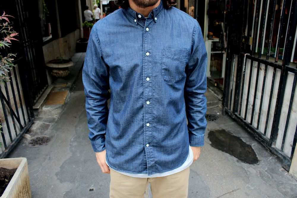Edwin :Classic Fit Shirt &amp&#x3B; Simple Chambray Shirt