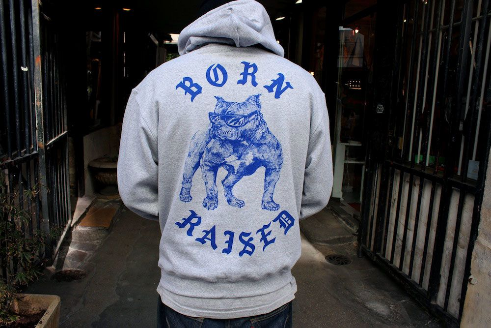 Born X Raised : Boardwalk Shark &amp&#x3B; Lames Hoodie