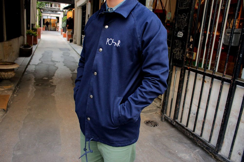 Polar Skate Co &quot&#x3B;Stroke Logo&quot&#x3B; Coach Jacket