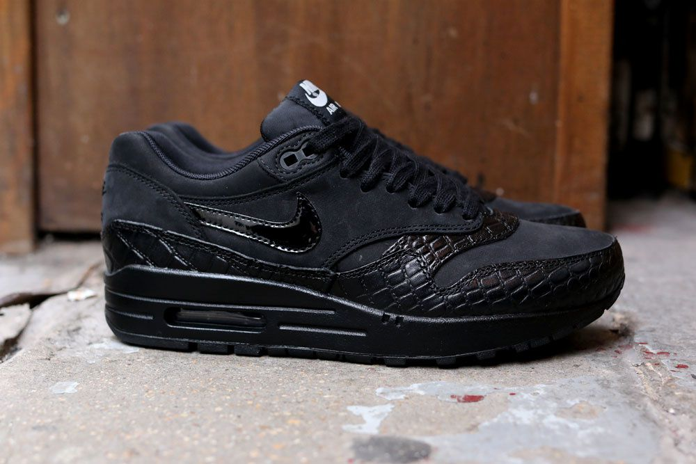 Nike Wmns Air Max 1 PRM &quot&#x3B;Black Croc&quot&#x3B;