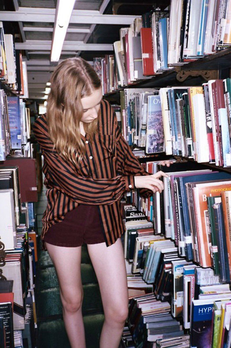 Fashion Model, Books, Bookshelves, Style inspiration, Fashion photography, Long hair