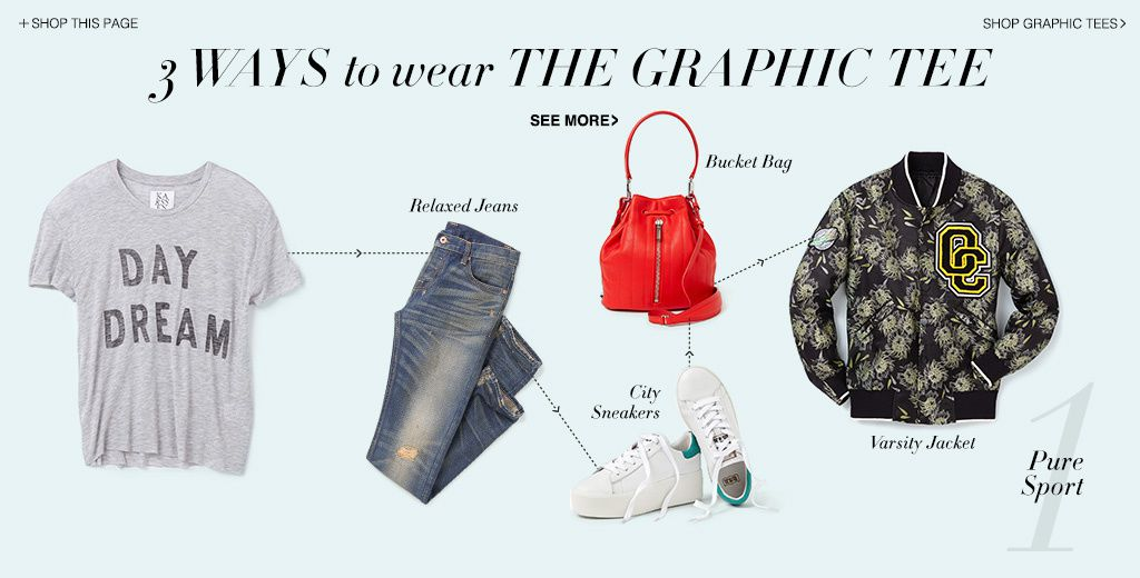 3 WAYS TO WEAR THE GRAPHIC TEE