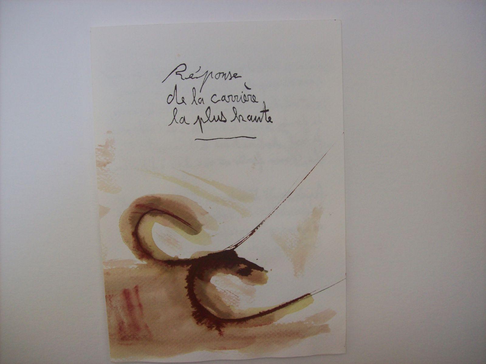 CARRIERE / Livre d'artiste en deux exemplaires, 2011.