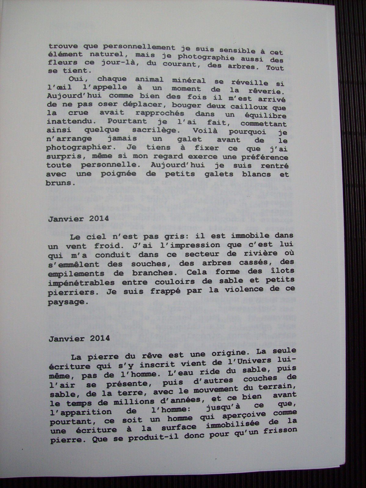 &quot&#x3B;Un éclat de rivage&quot&#x3B;, livre d'artiste avec Marc Pessin.