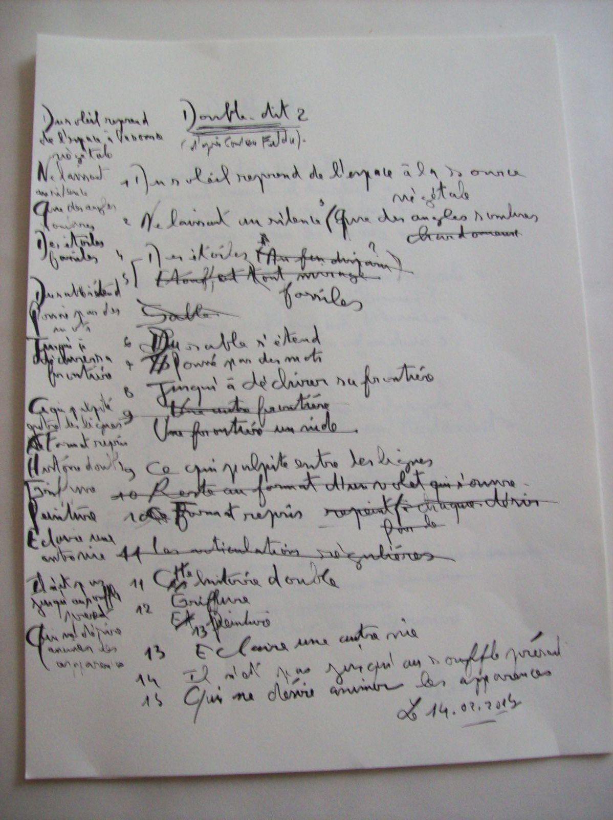 Toiles de Constance Fulda/Poèmes calligraphiés de Régis Roux. Site de l'artiste: http://fulda.fr/