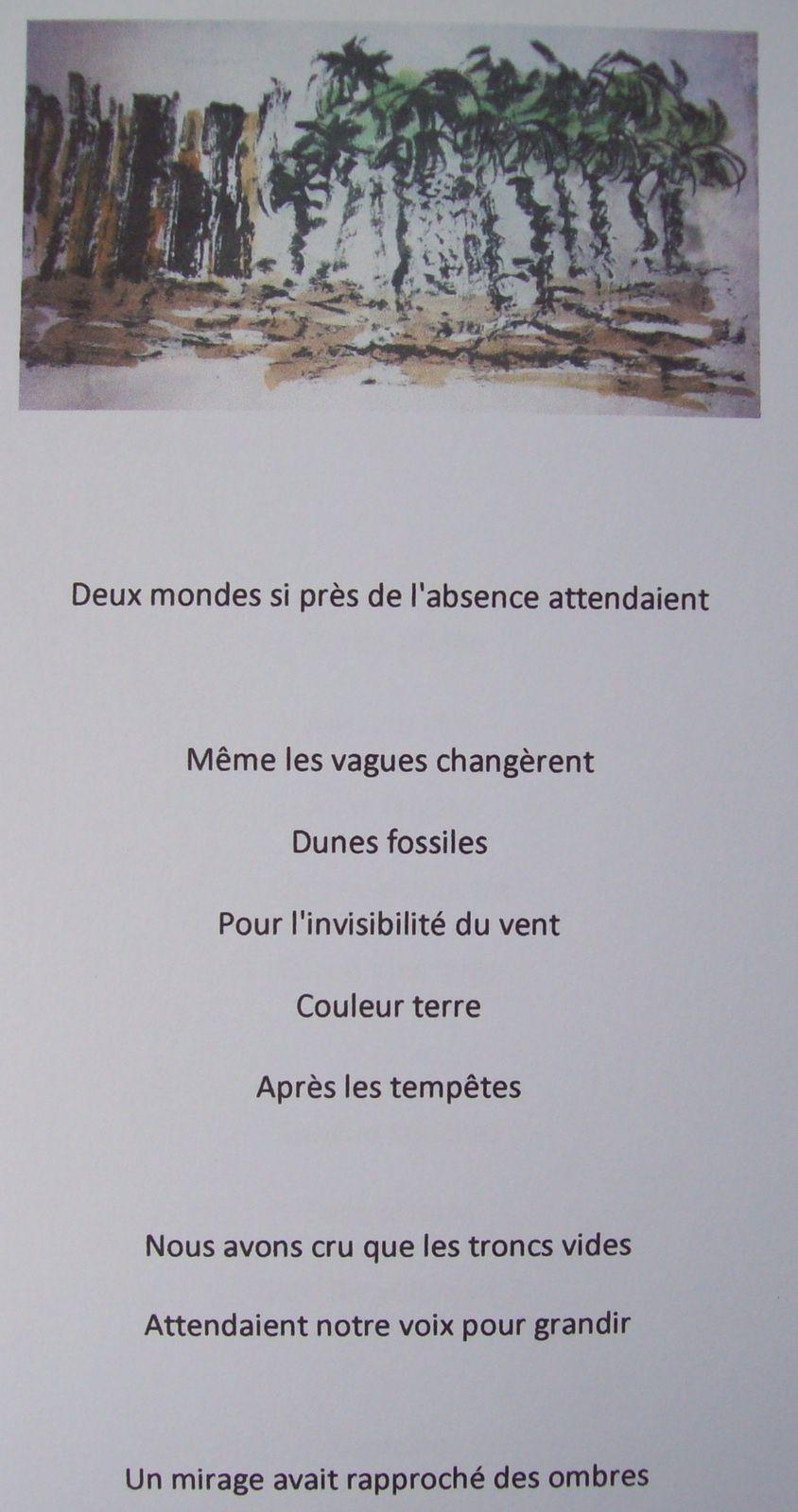 """""""Voyage""""/ Poèmes de Régis Roux/Encres de Cris Joguet&#x3B; 2015)"""