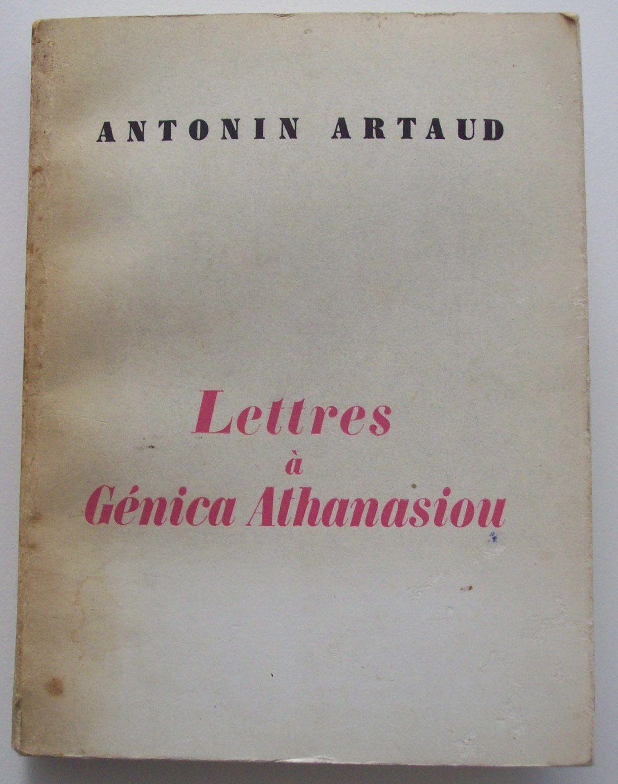 Autoportrait (frontispice) d'Artaud, vers 1920-1921.// Artaud: portrait de Génica Athanasiou.// Lettre du 9 août 1922. // Premier mot d'Artaud reçu par Génica daté de 1921.