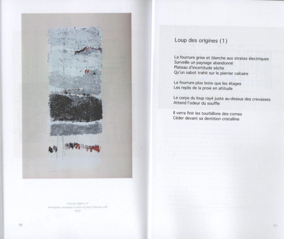 L'HISTOIRE DU LOUP (extraits du livre), estampes de Pascale Simonet, poèmes de Régis Roux, 2015.