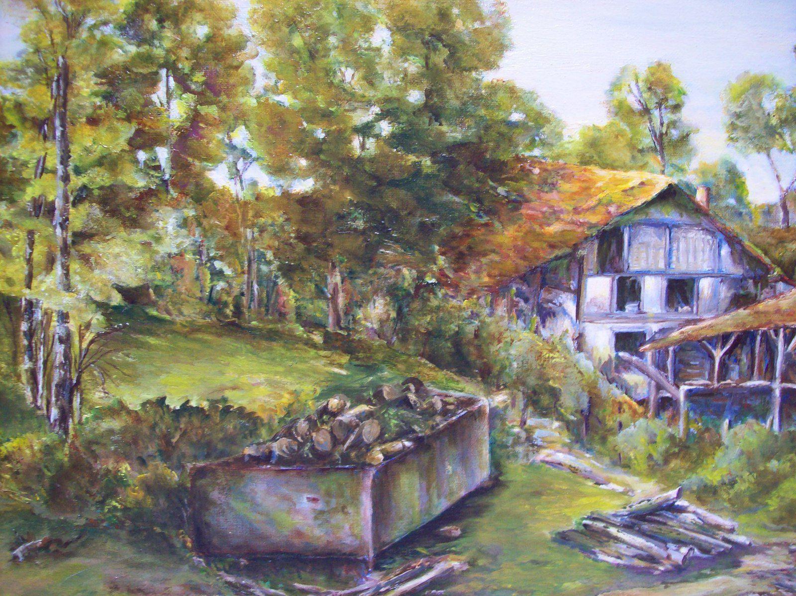 Peintures à l'huile de Chantal Roux.
