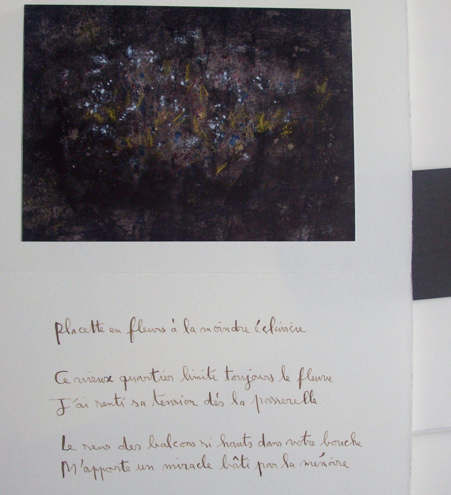 """"""" Balade de la non-voyante"""" (livre d'artiste/ Poèmes de Régis Roux/ peintures de Cris Joguet; avril 2016.)"""
