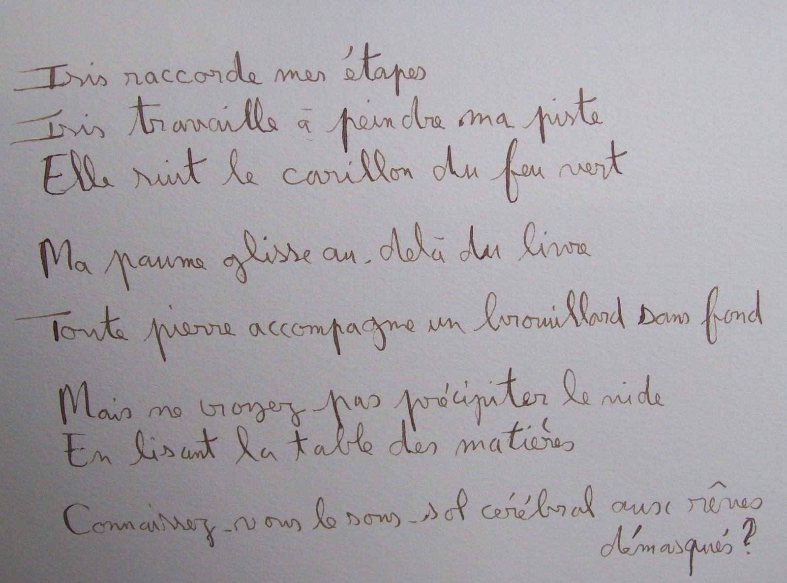 """"""" Balade de la non-voyante"""" (livre d'artiste/ Poèmes de Régis Roux/ peintures de Cris Joguet&#x3B; avril 2016.)"""