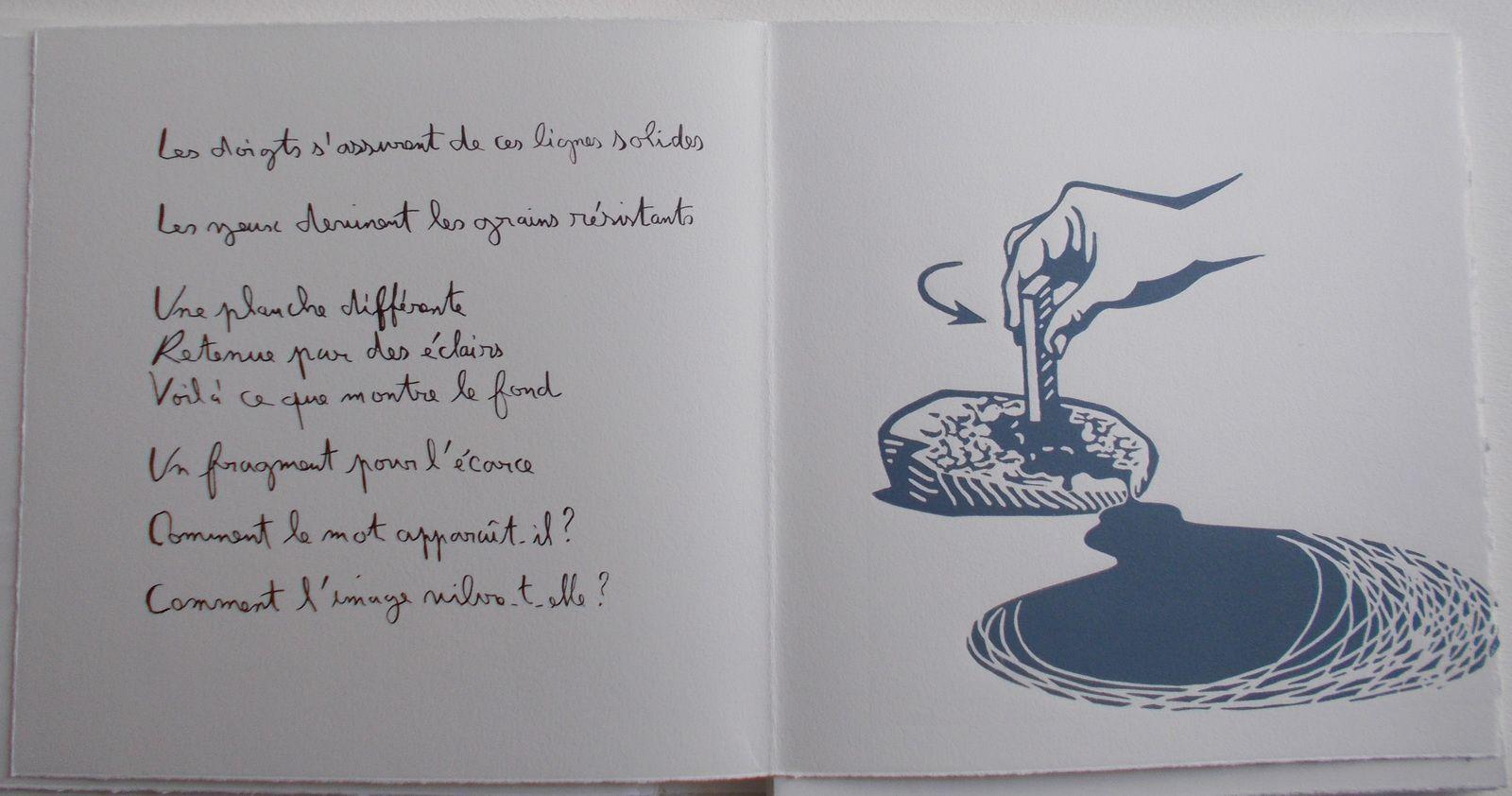 """""""Le Vent sur la pierre"""", livre d'artiste ( Régis Roux/ Cécile Combaz)&#x3B; 2017"""