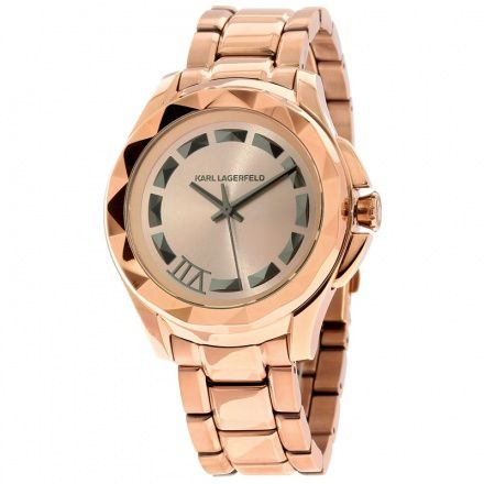 Montre 7 Karl Lagerfeld or rose, 249 euros