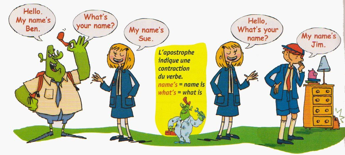 Anglais : what's your name?