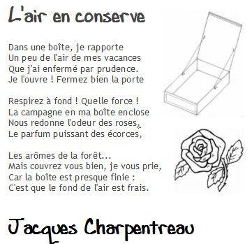 Poésie: L'air en conserve, Jacques Charpentreau