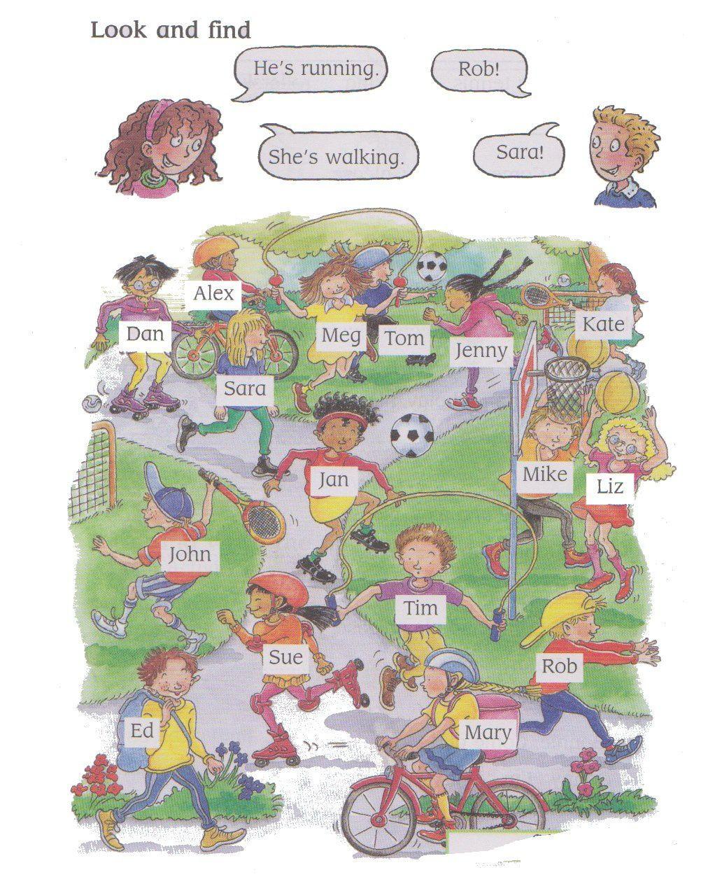 Bien connu English actions: what are they doing? - La Classe de Myli Breizh EA08