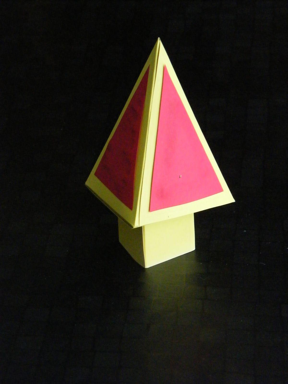 Bricolage de Noël: Une boite-sapin pour chocolats