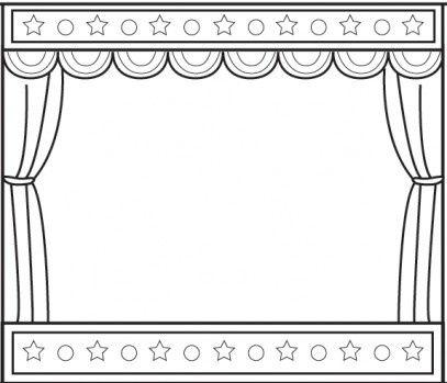 Dessin rideau de théâtre vierge pour créer une affiche