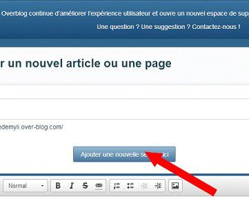 Tutoriel nouvelle version d'overblog