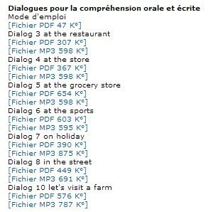 exemple dialogue en anglais