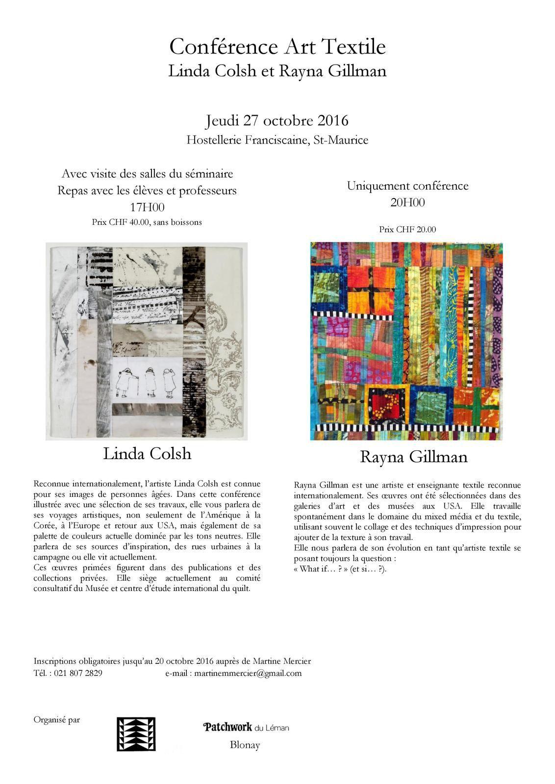 Conférence de Linda Colsh et Rayna Gillman