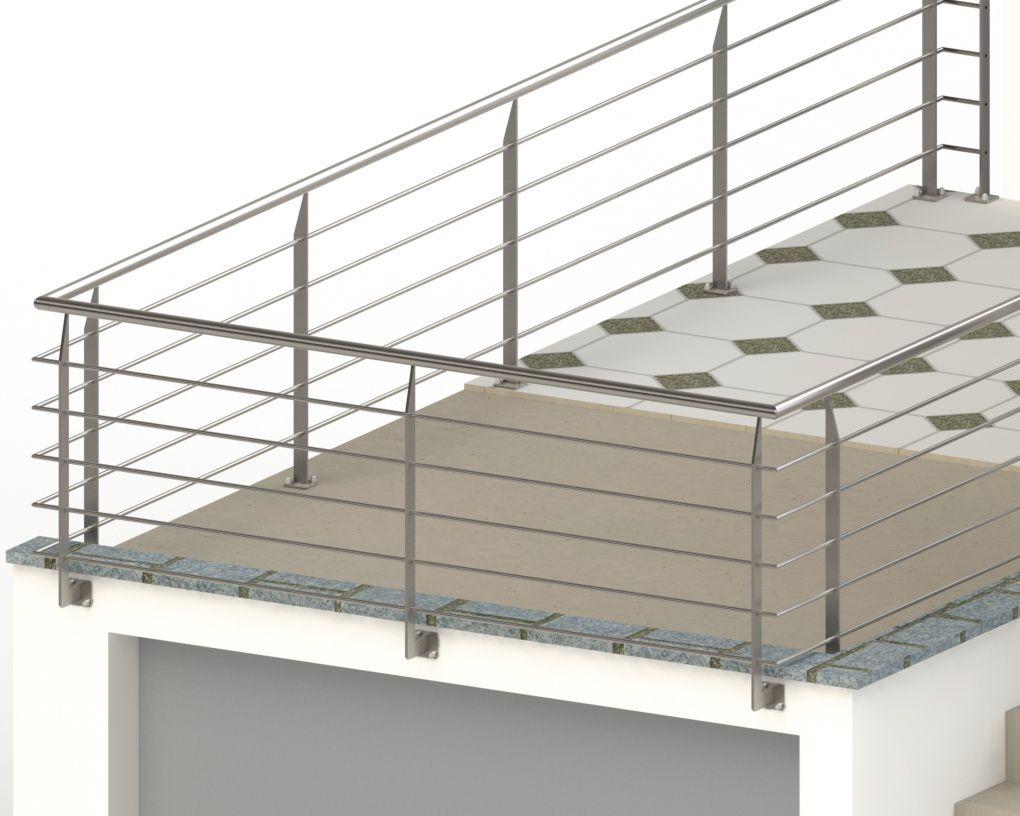 R alisation d 39 un garde corps inox pour une terrasse privative m taller - Separation pour terrasse ...