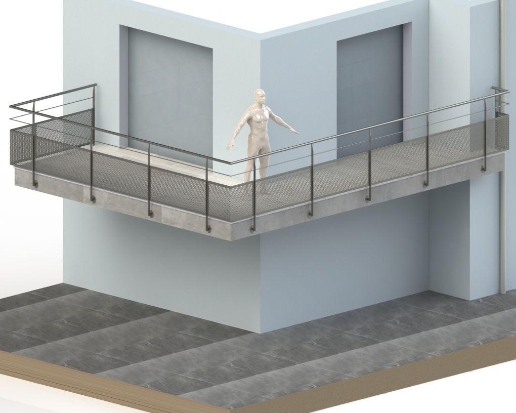 balustrade pvc pour balcon. Black Bedroom Furniture Sets. Home Design Ideas